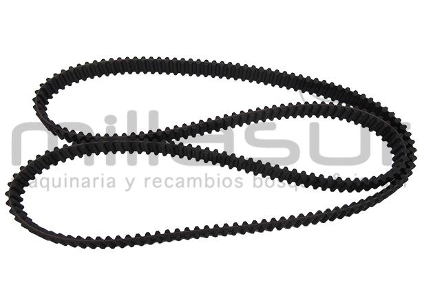 1800 mm Correa doble dentada DS8M180025 para Castelgarden Longitud